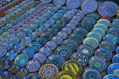The souvenirs on the market in Buhara. Uzbekistan Stock Photography