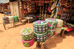 Souvenirs at a market in Madagascar. Souvenirs at a market in Africa, Madagascar Royalty Free Stock Photography
