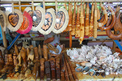 Souvenirs at market. South Pacific, Kingdom of Tonga Stock Photo