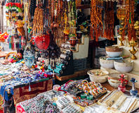 Souvenirs Market at Streets of Jerusalem Old City Stock Photos