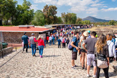 Souvenirs market at the Teotihuacan archaeological site in Mexico Stock Photo