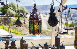 Souvenirs at market in Turkey Royalty Free Stock Images
