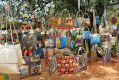 Souvenirs in mozambique stock photography