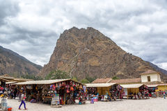 Souvenirs at Ollantaytambo Royalty Free Stock Photo