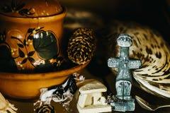 Free Souvenirs On The Shelf - Glass Figurines Stock Photos - 176064423