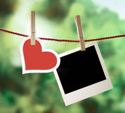 Souvenirs romantiques de Valentine Image stock