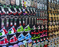 Souvenirs from Rome. Rows of magnet souvenirs from Rome, Italy Stock Image