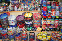 Souvenirs on sale stock images