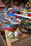 Souvenirs on sale Stock Photos