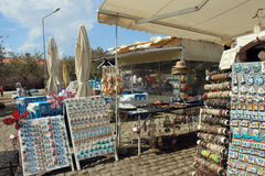 Souvenirs for sale displayed at  gift shop, Turkey Stock Image