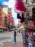 Souvenirs for sale at Little Italy in New York City Royalty Free Stock Images