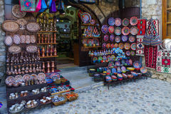 Souvenirs on sale, Mostar Stock Images
