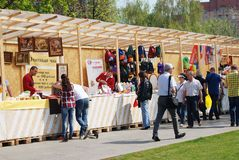 Souvenirs for sale in Muzeon park in Moscow. Royalty Free Stock Photography