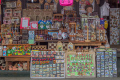 Souvenirs for sale, popular souvenir for tourists Royalty Free Stock Images