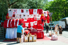 Souvenirs of San Fermin festival Royalty Free Stock Photography