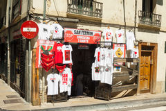 Souvenirs of San Fermin festival in Pamplona Royalty Free Stock Photos