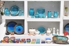 Souvenirs at Santorini Royalty Free Stock Image