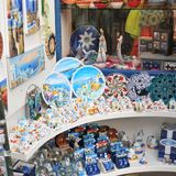 Souvenirs at Santorini Stock Image