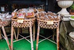 Souvenirs in Shirakawa-go Royalty Free Stock Photos