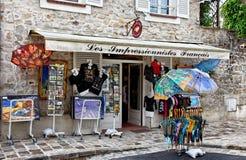 Souvenirs Shop in Barbizon. Barbizon,France- April 4th 2011: Image of a souvenir shop in Barbizon.This is a  village in central France,near Fontainebleau forest Stock Image