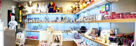 Souvenirs shop interior Royalty Free Stock Images