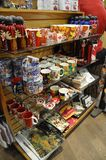 Quebec, 28th June:  Souvenirs Shop interior on Rue du Petit Champlain from Old Quebec City in Canada Stock Photos