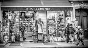 Souvenirs shop in Paris Royalty Free Stock Photo