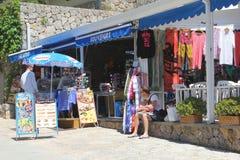 Souvenir shop in Sa Calobra, Mallorca, Spain Royalty Free Stock Photography
