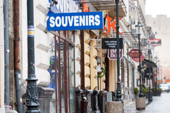 Souvenirs shop sign Stock Image