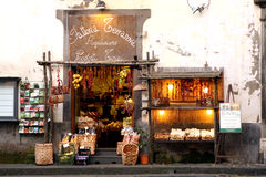 Souvenirs shop Sorrento Italy. Souvenirs shop of the Amalfi Coast Stock Image