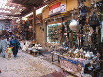 Souvenirs shops at the Souk. Egypt. Souvenirs shops at the Souk in Luxor. Egypt Royalty Free Stock Photography