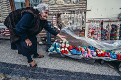 Souvenirs in Sighnaghi Royalty Free Stock Images