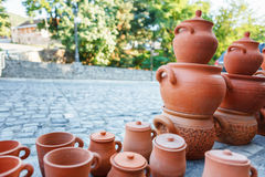 Souvenirs sold on a local market in the old town of Sheki, Azerbaijan. Royalty Free Stock Photography