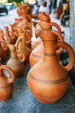 Souvenirs sold on a local market in the old town of Sheki, Azerbaijan. Royalty Free Stock Photo