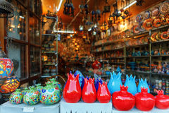 Souvenirs sold on a local market in the old town of Sheki, Azerbaijan. Royalty Free Stock Image