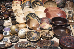 Souvenirs South Africa, handcrafted and painted bowls Stock Image