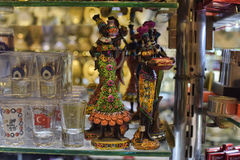 souvenirs - stack for alcohol and figurines Stock Photography