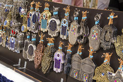 Souvenirs in the street market, Israel Royalty Free Stock Images