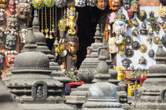 Souvenirs in street shop at Durbar Square in Kathmandu, Nepal. Stock Image