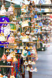 Souvenirs on the streets arranged in row and column in the main Royalty Free Stock Photos