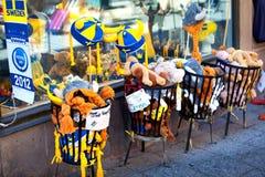 Souvenirs suédois à Stockholm, Suède photo stock