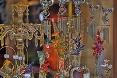 Souvenirs suspension of glass and crystal Royalty Free Stock Image