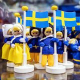 Souvenirs from Sweden with Swedish flag Stock Image