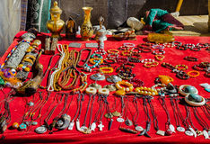 Souvenirs from Tibet. Souvenirs are sold on the way to Mount Everest Stock Images