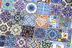 Souvenirs for tourists reproducing portuguese tiles Stock Images