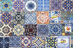 Souvenirs for tourists reproducing typical portuguese tiles Stock Images