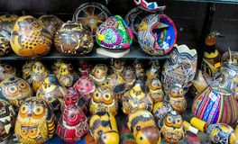 Souvenirs in Peruvian market Royalty Free Stock Photo