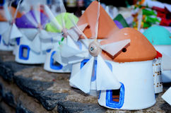 Souvenirs windmill in the souvenir shop Stock Photo
