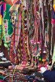 Souvenirställning i La Paz, Bolivia Fotografering för Bildbyråer