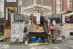 Souvernir-Stall Gdansk Lizenzfreie Stockfotografie